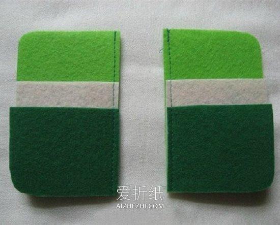 怎么用不织布做布艺卡包的方法图解- www.aizhezhi.com