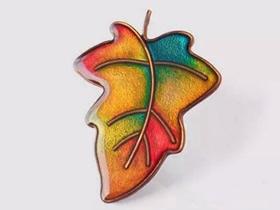怎么用铜线和滴胶做树叶胸针的方法图解