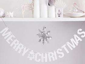 怎么用卡纸做Merry Christmas圣诞文字装饰的方法