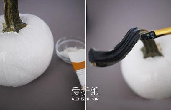 怎么做万圣节蕾丝南瓜的方法图解- www.aizhezhi.com