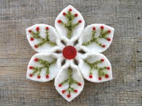 怎么用不织布做雪花装饰的作品图片