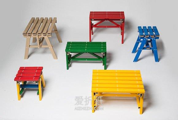 怎么用硬纸板做桌凳的作品图片- www.aizhezhi.com