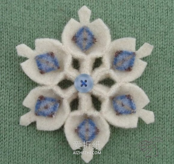 小学生做的新年贺卡_怎么用不织布做雪花装饰的作品图片_爱折纸网