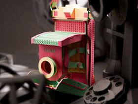 怎么用卡纸做精美纸模型相机的作品图片