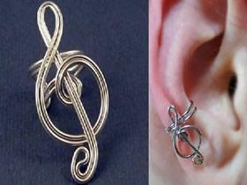 怎么用金属线做创意音符耳环的方法图解