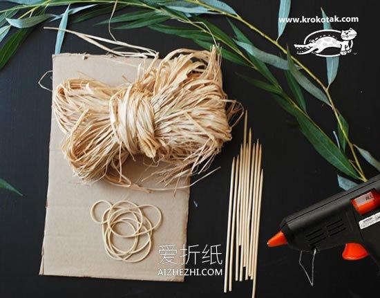 怎么用草编织花篮的方法图解- www.aizhezhi.com