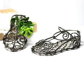 怎么用金属线做绕线绣花鞋的方法图解