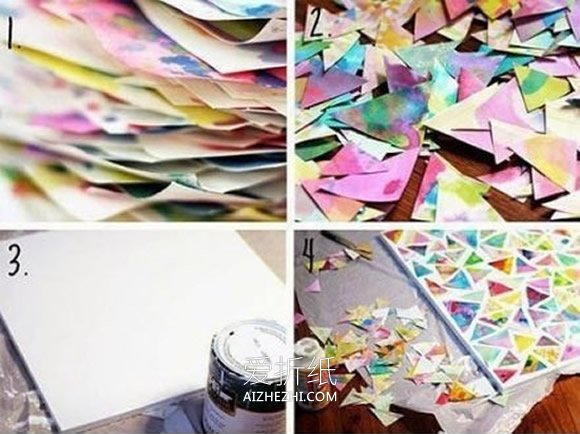 怎么用水彩印染做纸贴画的方法图解- www.aizhezhi.com