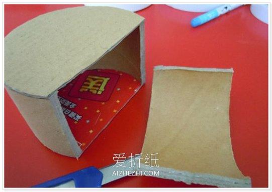 怎么用胶带芯做西瓜收纳盒的方法图解- www.aizhezhi.com