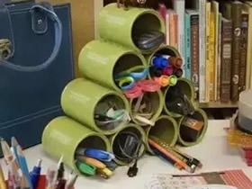 怎么用铁罐子做家居收纳的方法图片