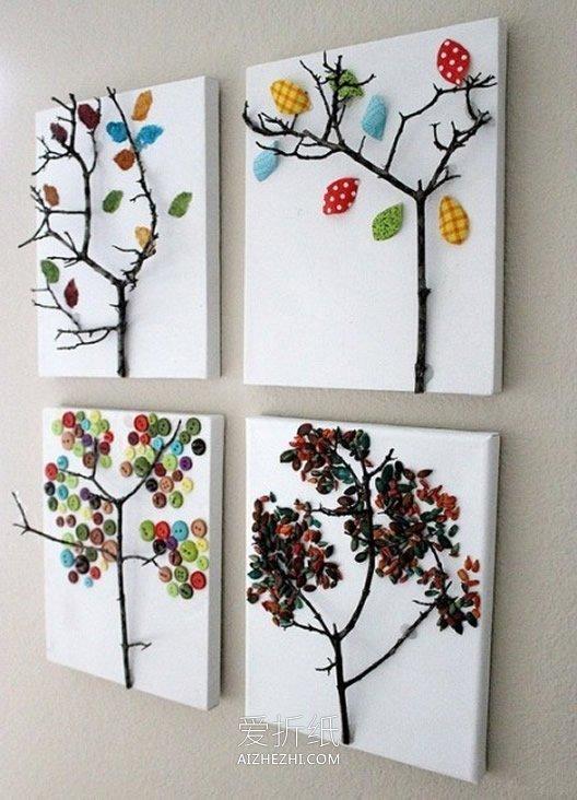 用圆形拼成的动物_怎么用纽扣拼贴装饰画的作品图片_爱折纸网