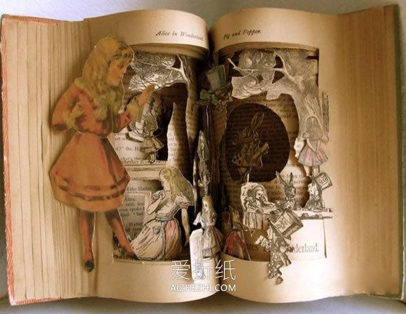 用圆形拼成的动物_怎么用旧书做立体雕刻艺术品的图片_爱折纸网