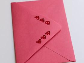 怎么做甜蜜情人节卡片信封的方法图解