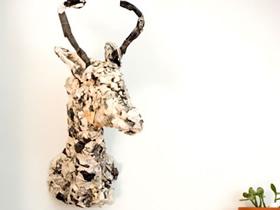 怎么用旧报纸做驼鹿标本的方法图解
