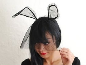 怎么做派对头饰兔耳朵的方法图解