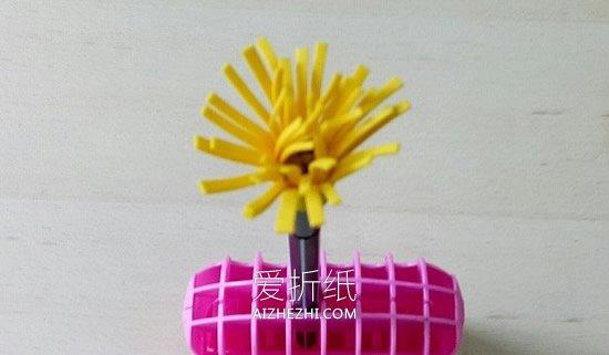 怎么用海绵纸做手工花的方法图解- www.aizhezhi.com