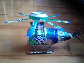 怎么用雪碧罐做直升飞机模型的方法图解