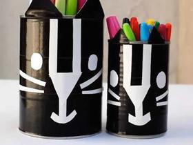 怎么用奶粉罐做兔子笔筒的方法图解