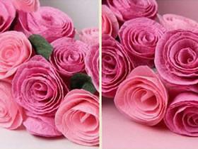 怎么用皱纹纸简单做玫瑰花的方法图解