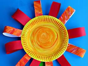 怎么用纸盘做教师节礼物太阳花的方法图解