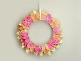 怎么用旧书做向日葵花环的方法图解