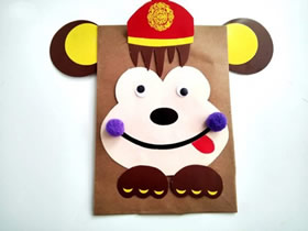 怎么用卡纸做猴子贴画的方法图解