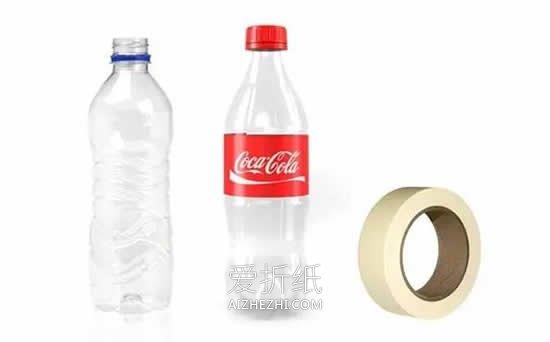可乐瓶子粘贴画_怎么用可乐瓶做企鹅宝宝的方法图解_爱折纸网