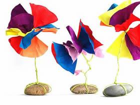 怎么简单用皱纹纸做纸花的方法图解