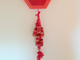 怎么用红酒瓶塞做新年爆竹挂饰的方法图解