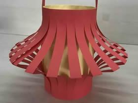 怎么用卡纸做漂亮红灯笼的方法图解