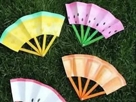 怎么用冰棍棒做传统纸扇的方法图解