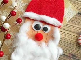 怎么用冰棍棒做圣诞老人的方法图解