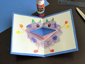 怎么用卡纸做父亲节立体怪物卡片的方法图解