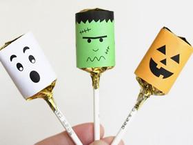 怎么用卡纸做万圣节怪物糖果包装的方法图解