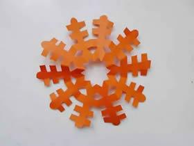 怎么用五角折叠剪纸雪花的方法图解