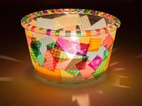 怎么用胶带纸做多彩灯笼的方法图解