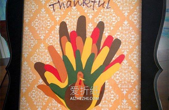 小学生做的新年贺卡_怎么用手印做感恩节火鸡贺卡的方法图解_爱折纸网