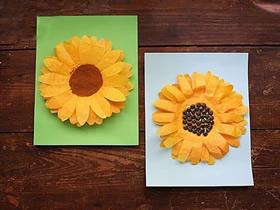 怎么用纸做新年向日葵贺卡的方法图解