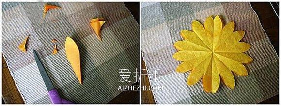 怎么用纸做新年向日葵贺卡的方法图解- www.aizhezhi.com