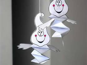 怎么用卡纸简单做幽灵挂饰的方法图解