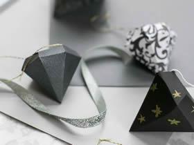 怎么用卡纸做立体钻石礼品盒的方法图解