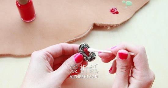 怎么用指甲油改造复古戒指的方法图解- www.aizhezhi.com