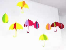怎么用毡布做雨伞挂饰的方法图解