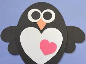 怎么用卡纸做企鹅粘贴画的方法图解
