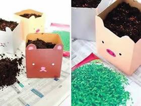怎么用牛奶盒做花盆的简单方法图解