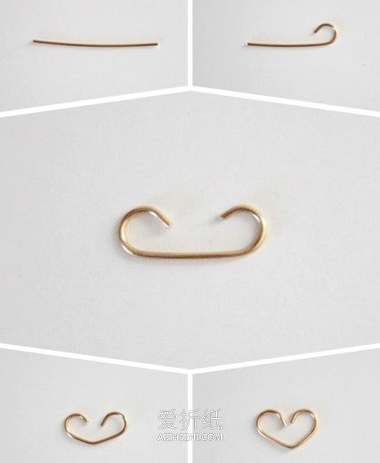 怎么用金属丝做爱心手链的方法图解- www.aizhezhi.com
