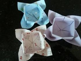 怎么折纸四叶草盒子的折法图解