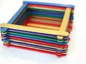 怎么用冰棍棒做方形收纳盘的方法图解