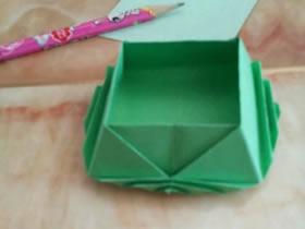 怎么简单折纸可爱收纳盒的折法图解