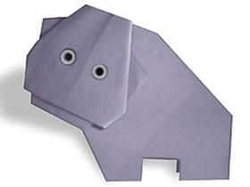 怎么简单折纸河马的方法图解